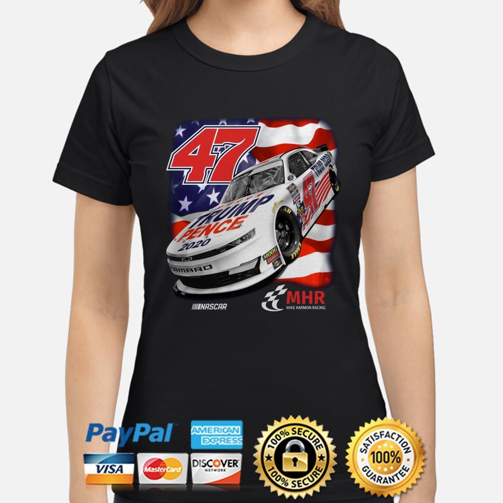 47 Trump Pence 2020 Nascar American flag Ladies shirt