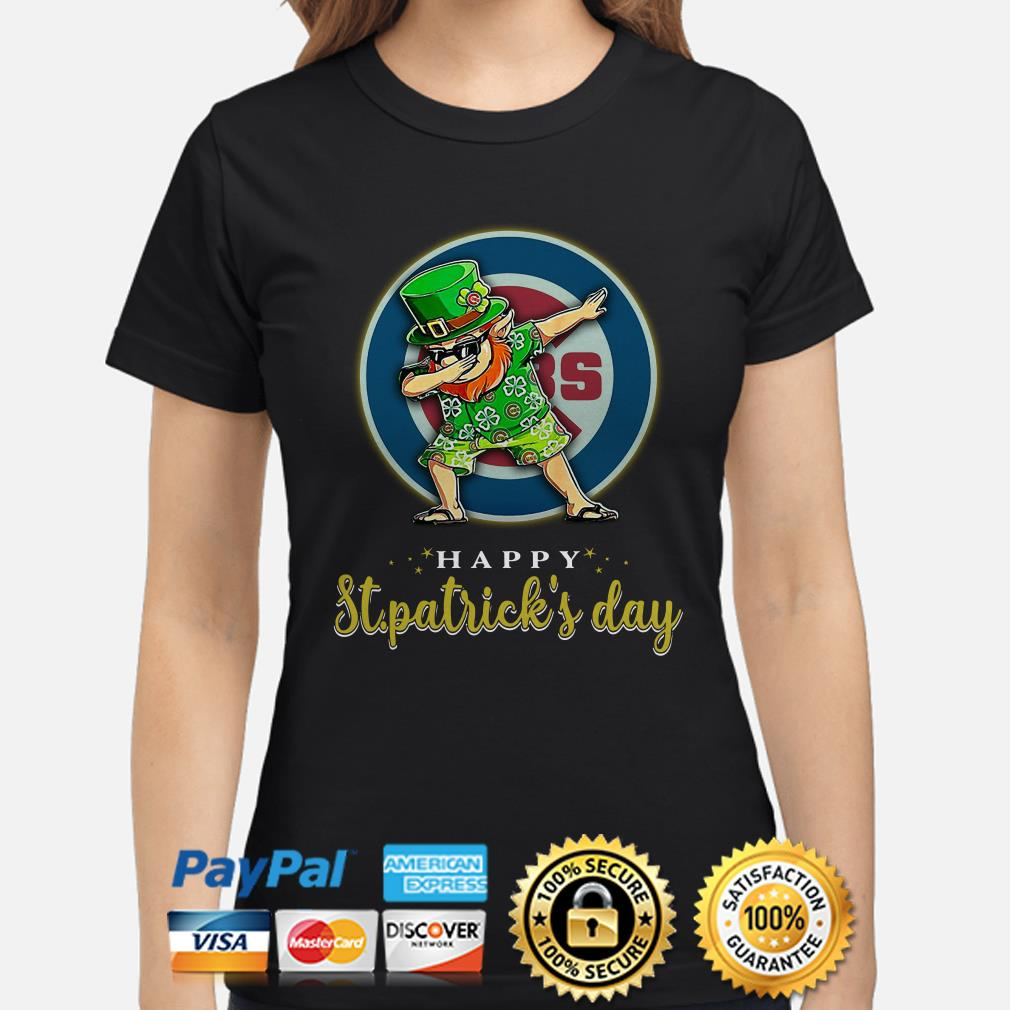 Chicago Cubs Uncle Sam Happy St Patrick's Day Ladies Shirt