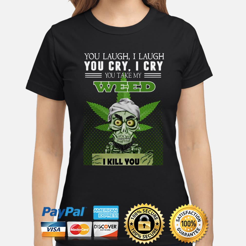Jets Dunham You Laugh I Laugh You Cry I Cry You Take Me Weed I Kill You Ladies Shirt