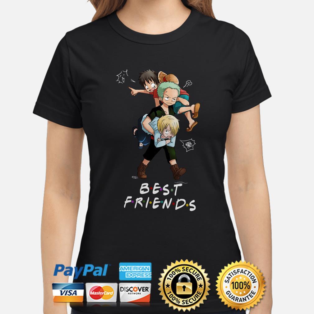 Monkey D. Luffy Roronoa Zoro Sanji Best Friends Ladies Shirt