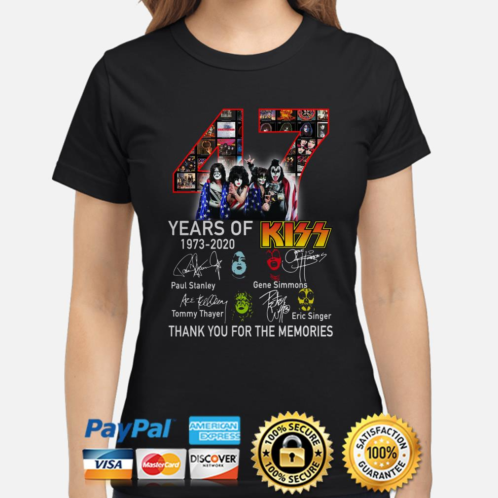 47 years of Kiss thank you for the memories signature Ladies shirt