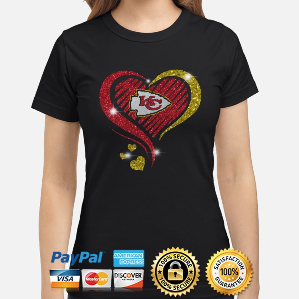Kansas City Chiefs heart diamond Ladies shirt