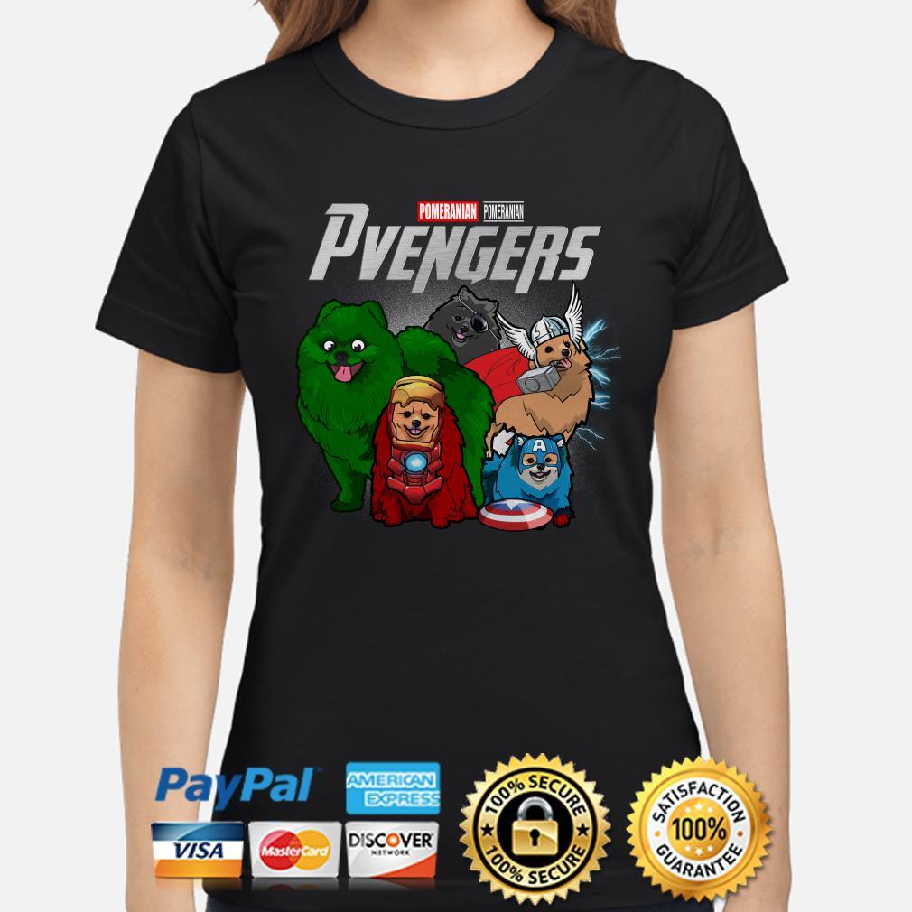 Marvel Avengers Pomeranian Pvengers Ladies shirt
