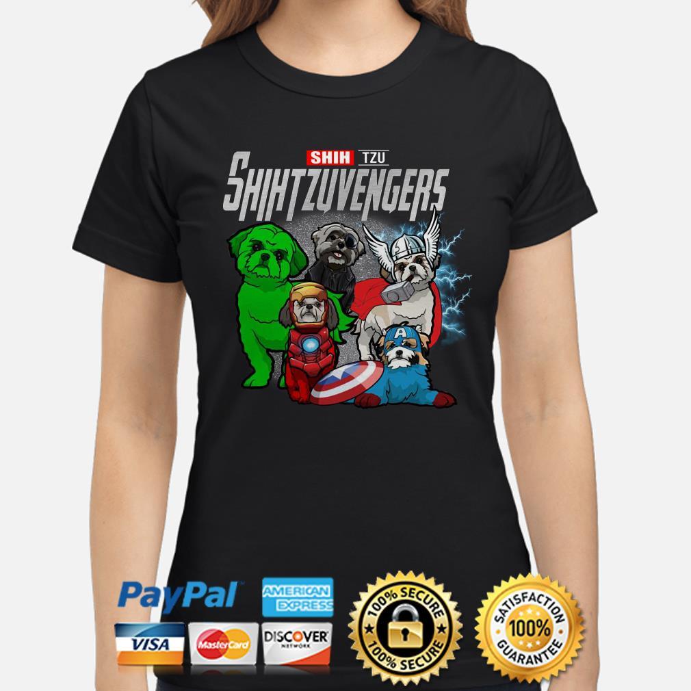 Marvel Avengers Shih tzu Shihtzuvengers Ladies shirt