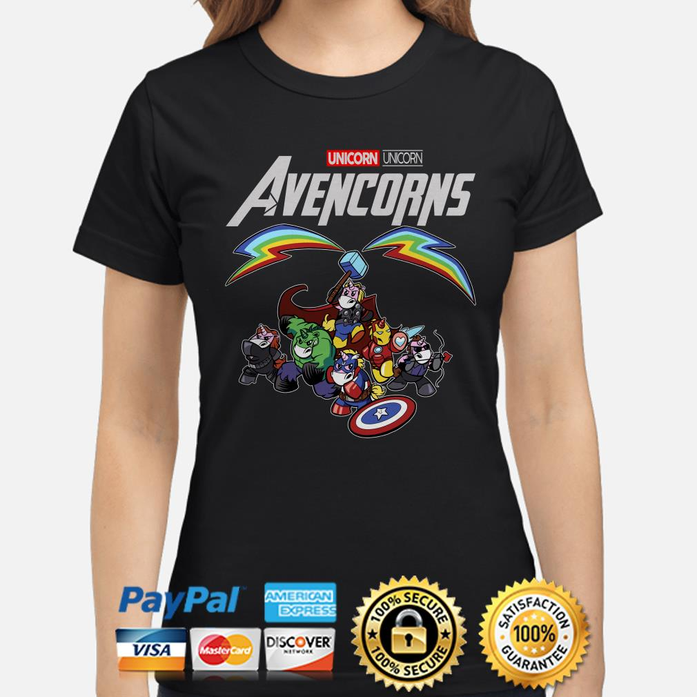 Marvel Avengers Unicorn Avencorns Ladies shirt