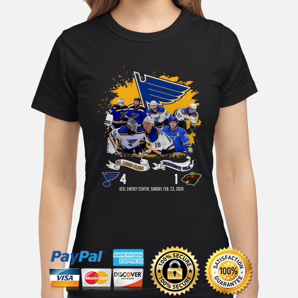 St. Louis Blues Minnesota Wild 4-1 Xcel Energy, Sunday,feb. 20, 2020 Ladies shirt