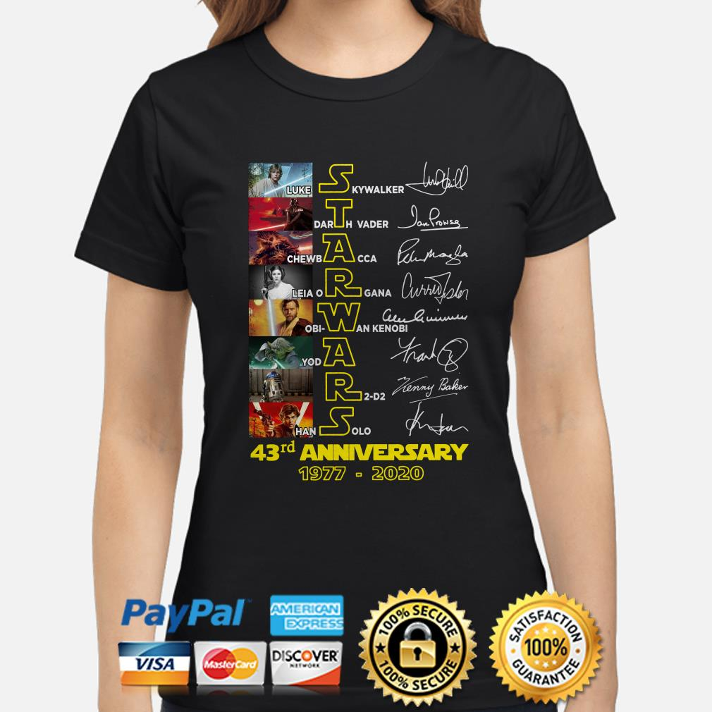 Star Wars 43rd Anniversary 1977-2020 Signature Ladies Shirt(1)