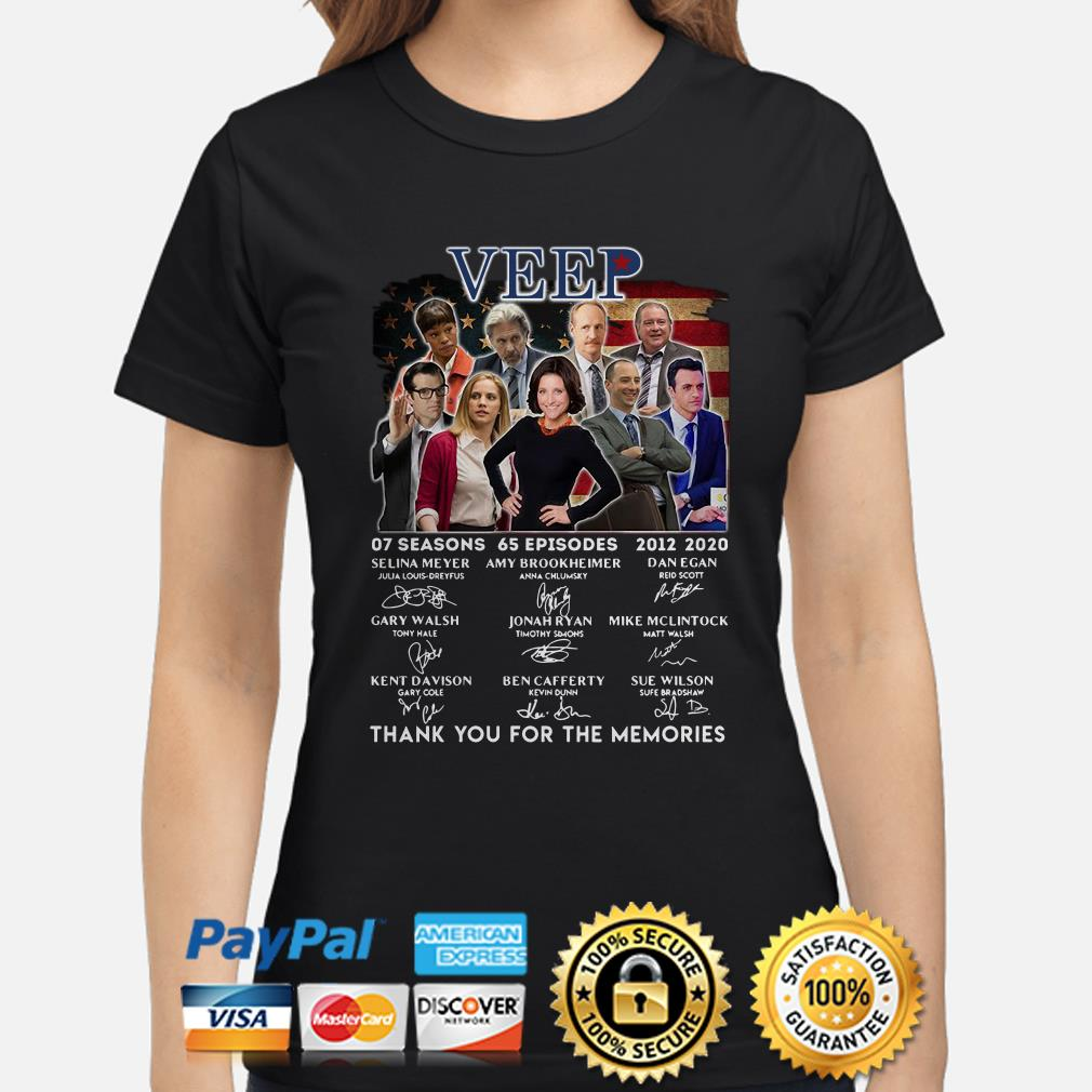 Veep 07 Seasons 65 Episodes 2012 2020 Thank You For The Memories Signature Ladies shirt