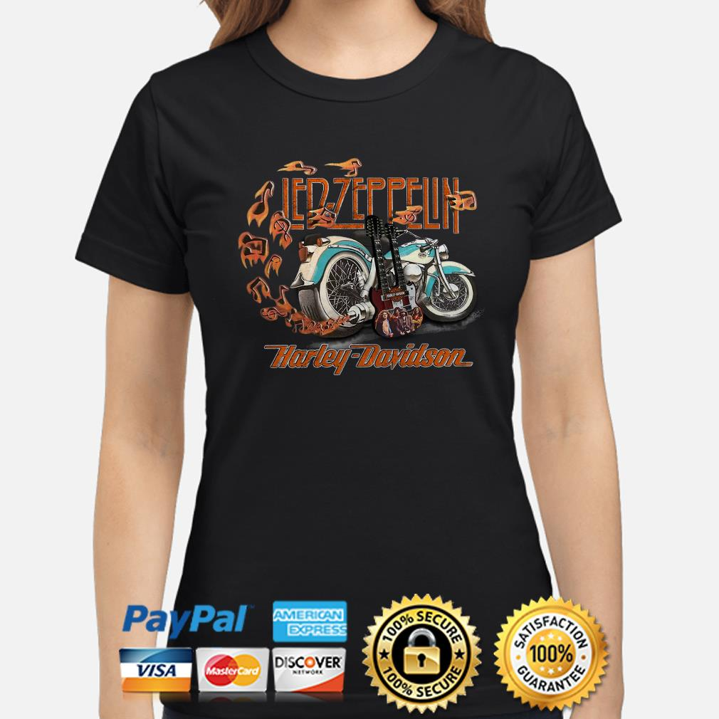 Led Zeppelin Harley Davidson Ladies shirt
