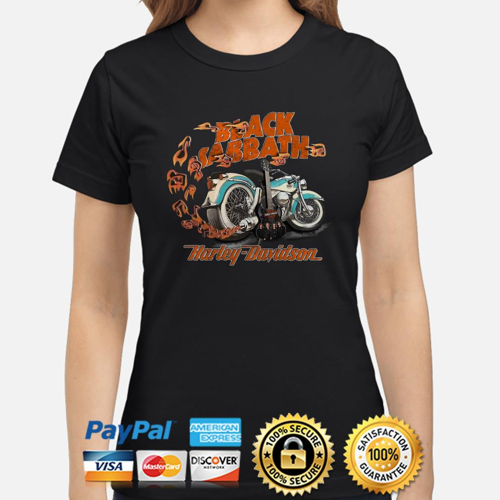 Motor guitar Black Sabbath Harley Davidson Ladies shirt