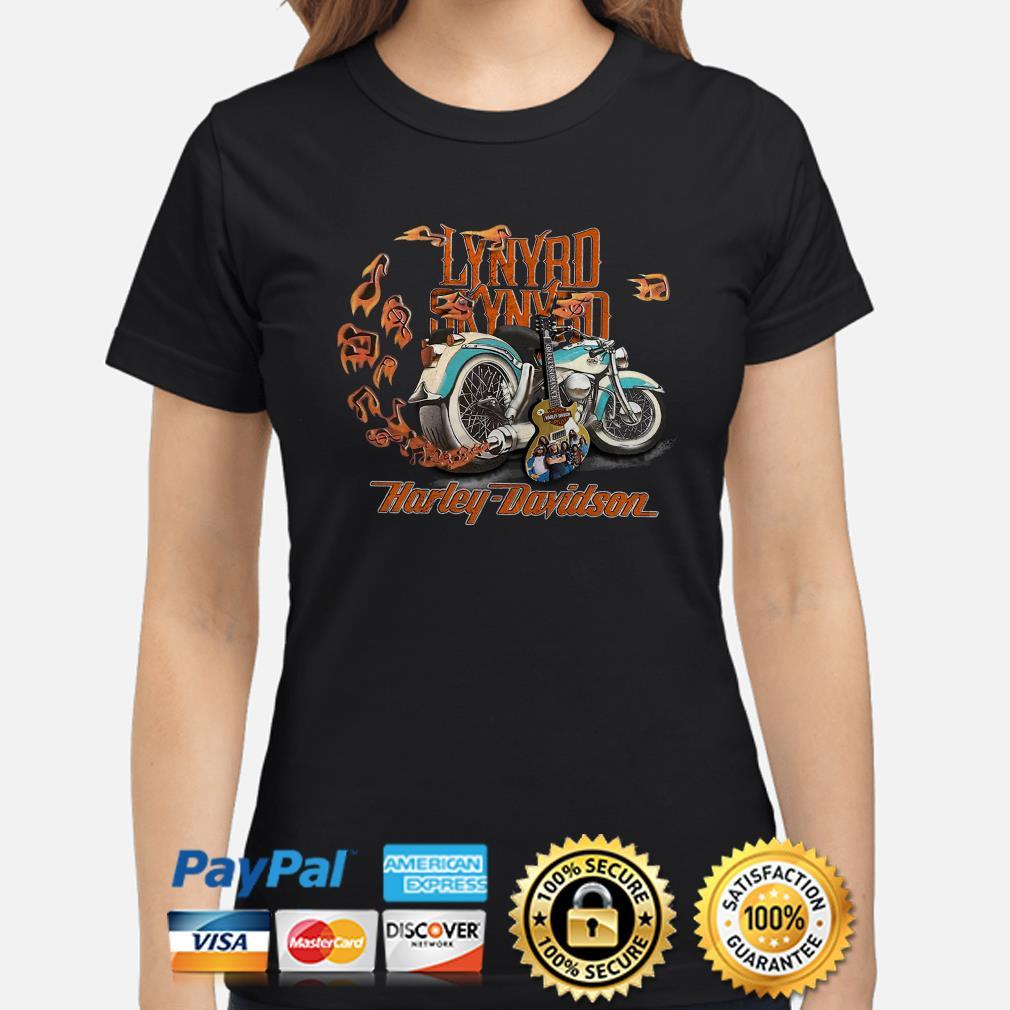 Motor guitar Lynyrd Skynyrd Harley Davidson Ladies shirt