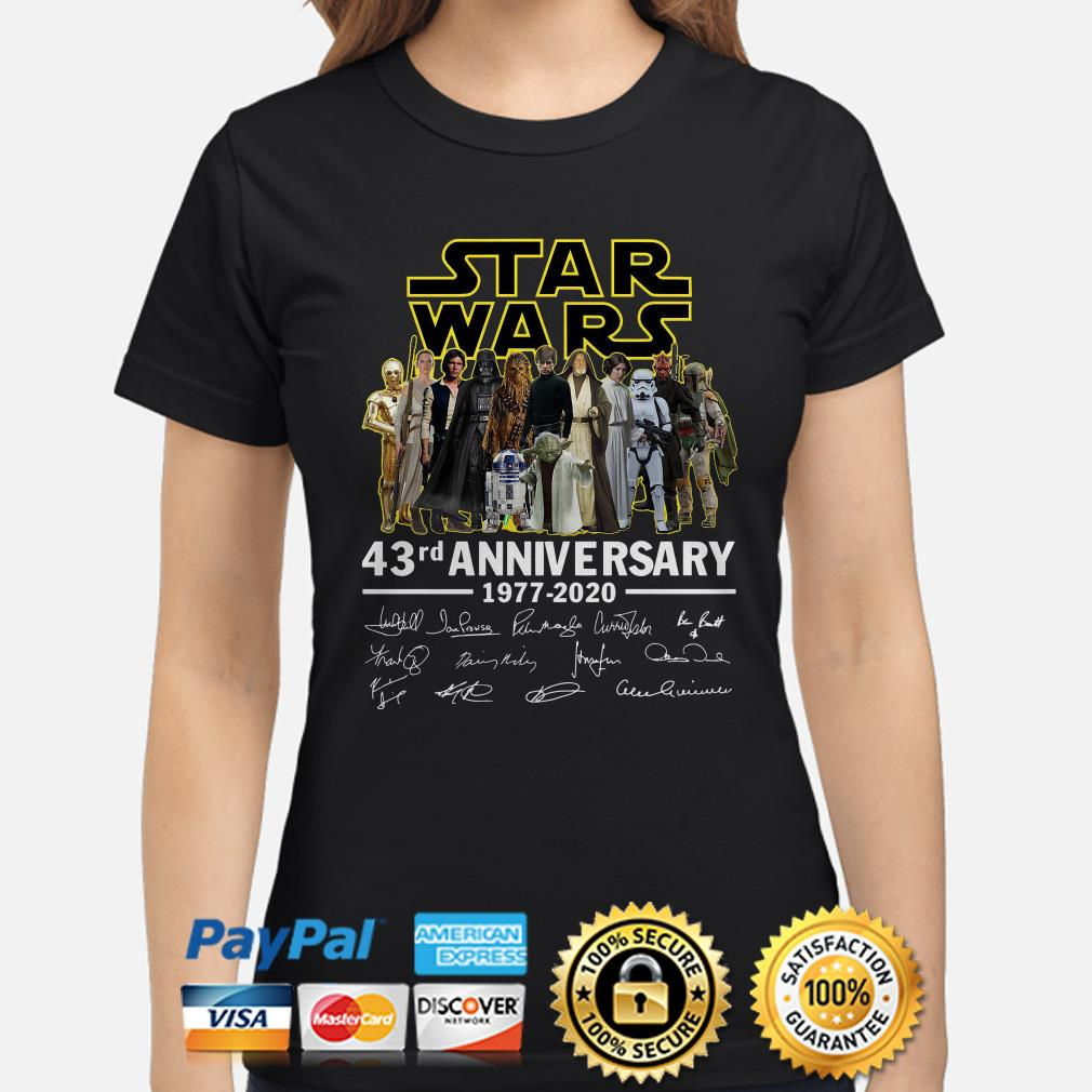 Star Wars 43rd Anniversary characters signature Ladies shirt