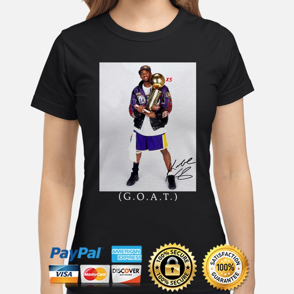 Kobe Bryant Goat X5 Ladies shirt