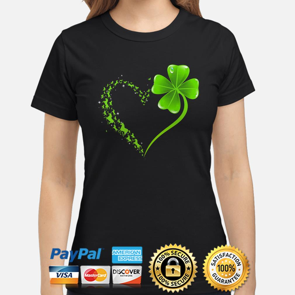 Horses Irish heart St Patrick's day Ladies shirt