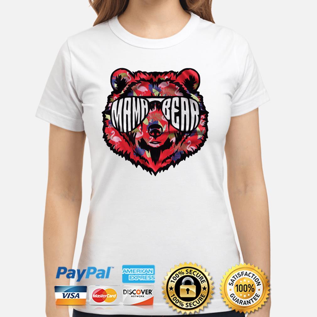 Mama Bear Sunglass flowers Ladies shirt