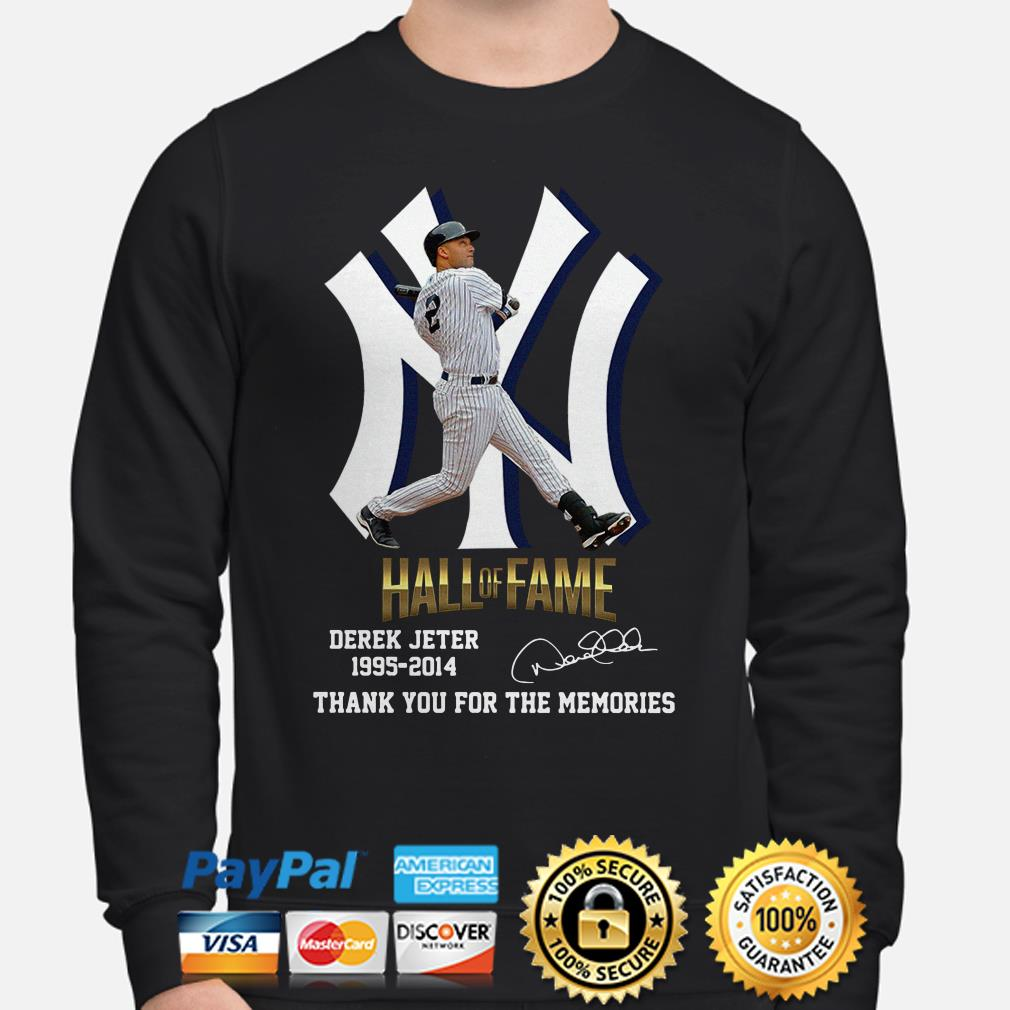 New York Yankees Hall Of Fame Derek Jeter 1995 2014 Thank You For The Memories Signature Sweater