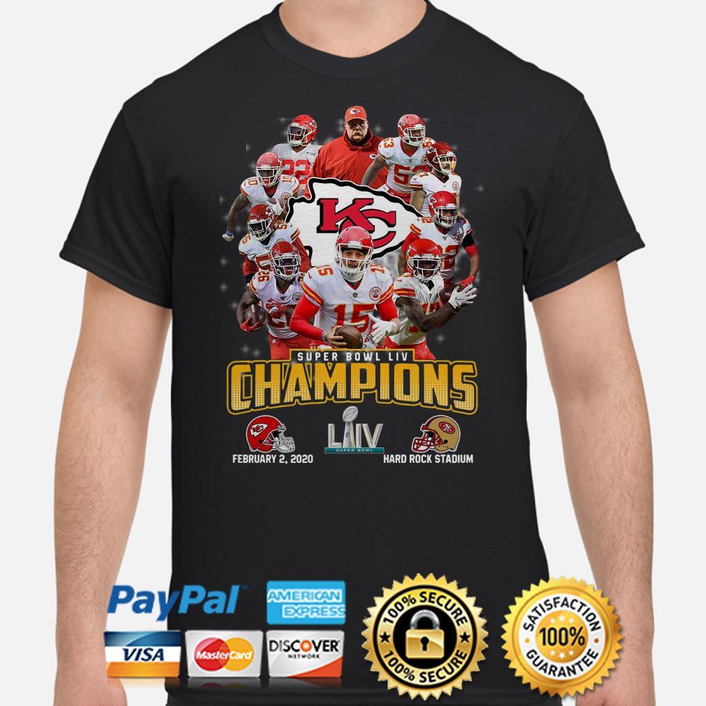 Official Kansas City Chiefs Super Bowl Liv Champions Shirt