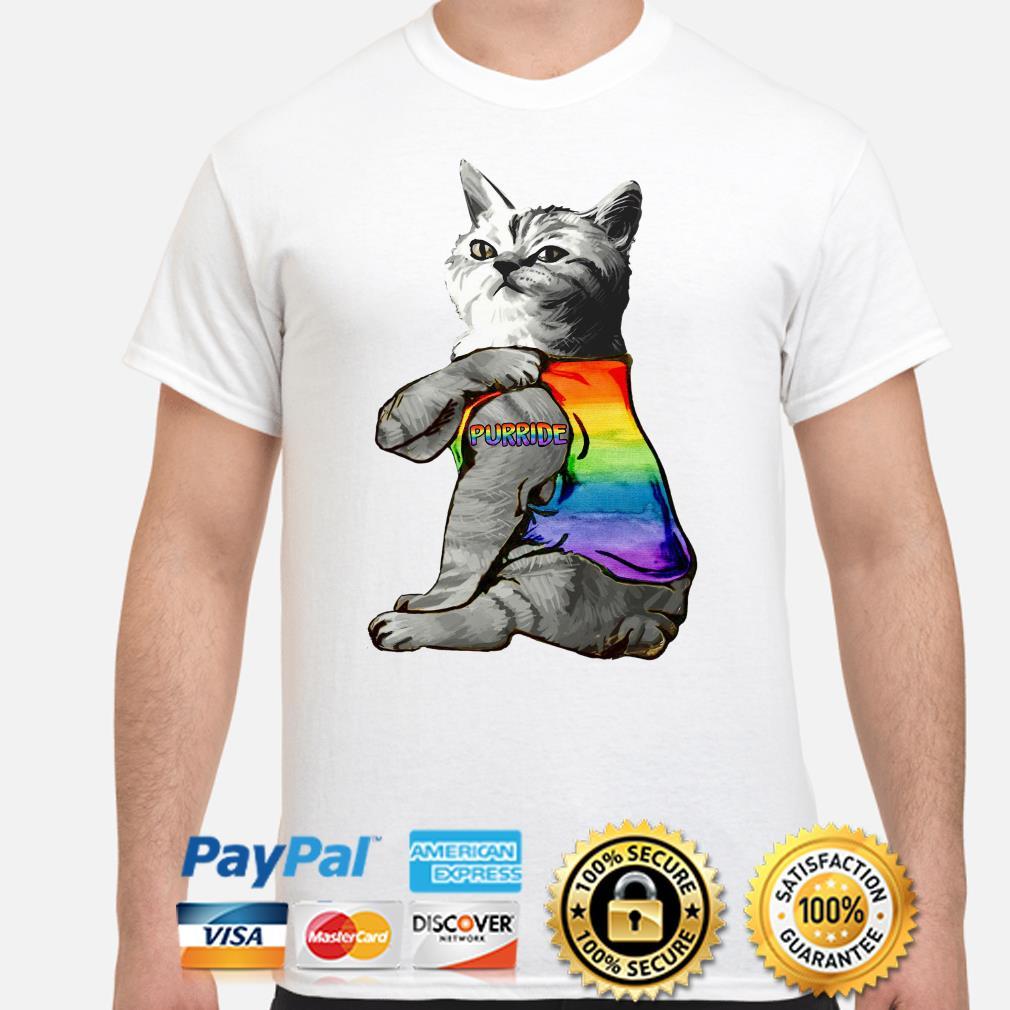 LGBT Tattoos cat Purride shirt