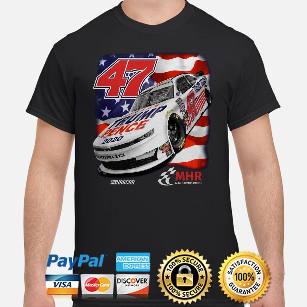 47 Trump Pence 2020 Nascar American flag shirt