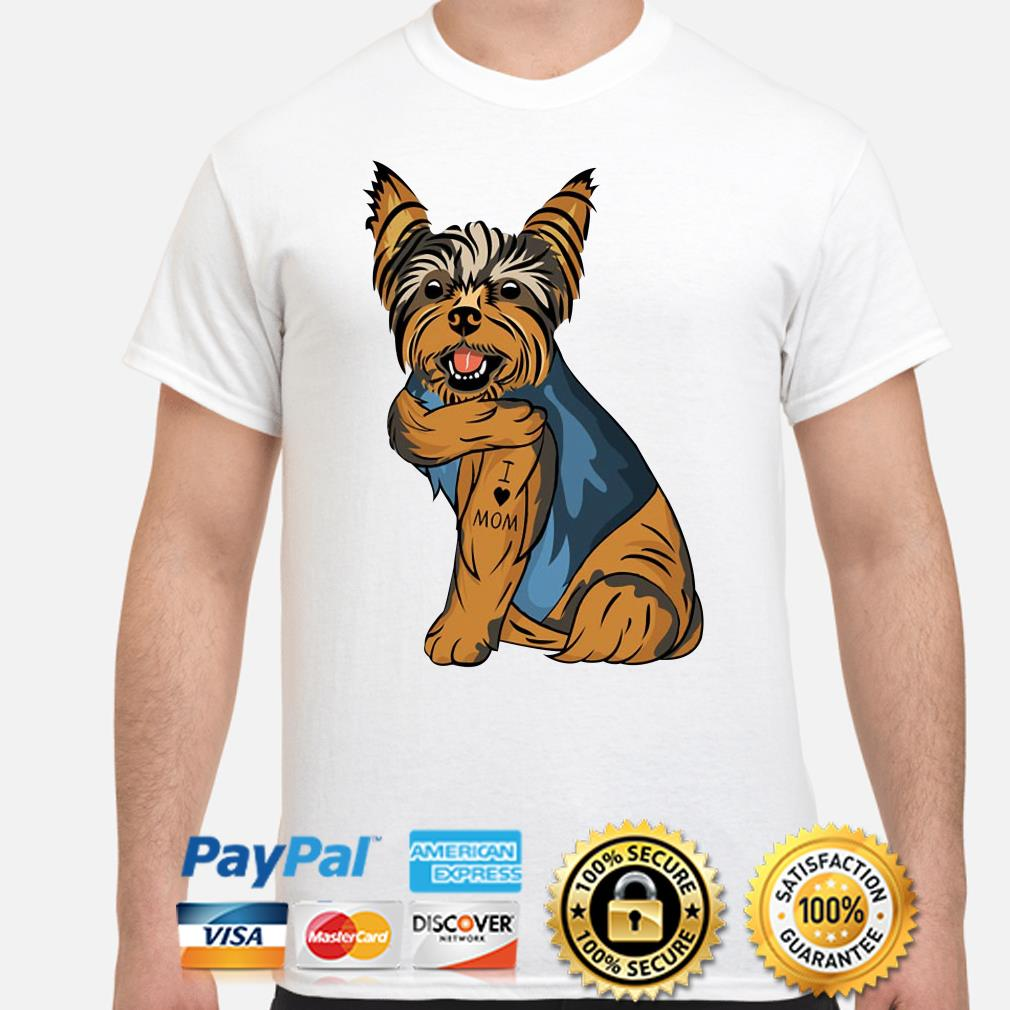 Yorkshire Terrier I Love Mom Shirt