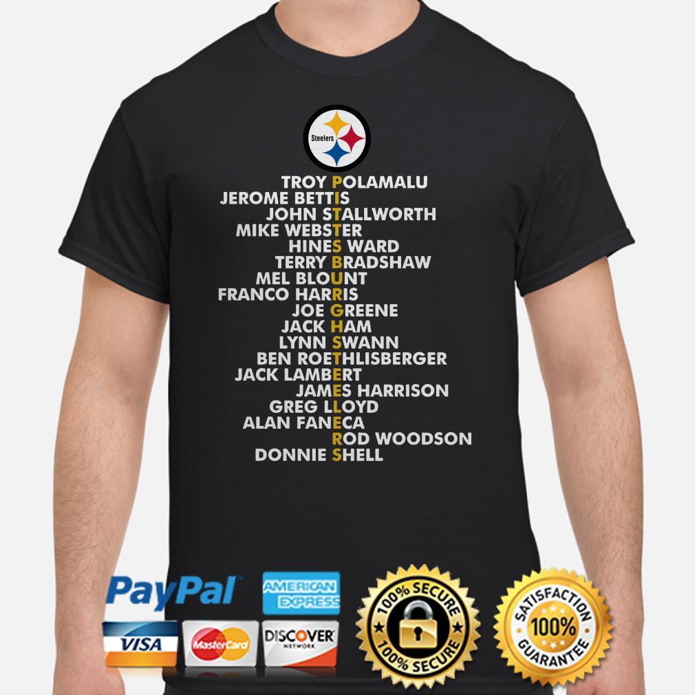 Pittsburgh Steelers Troy Polamalu Jerome Bettis John Stallworth Shirt