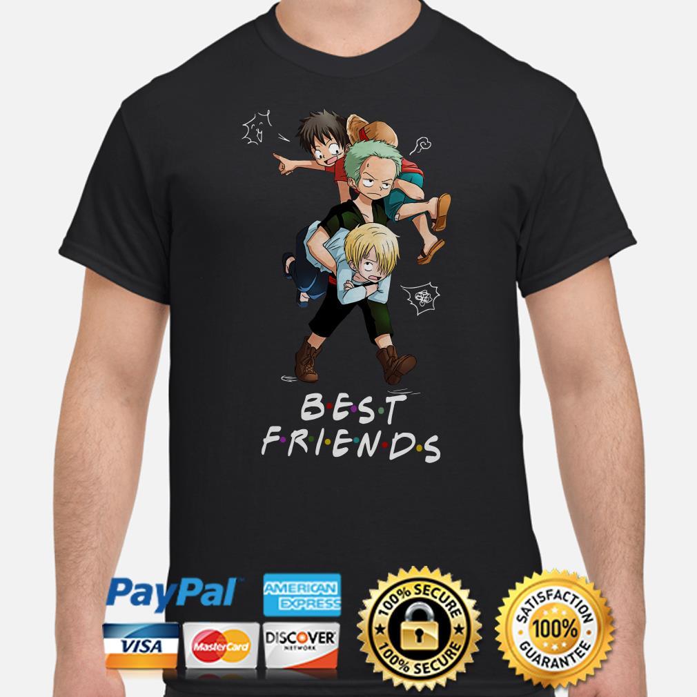 Monkey D. Luffy Roronoa Zoro Sanji Best Friends Shirt