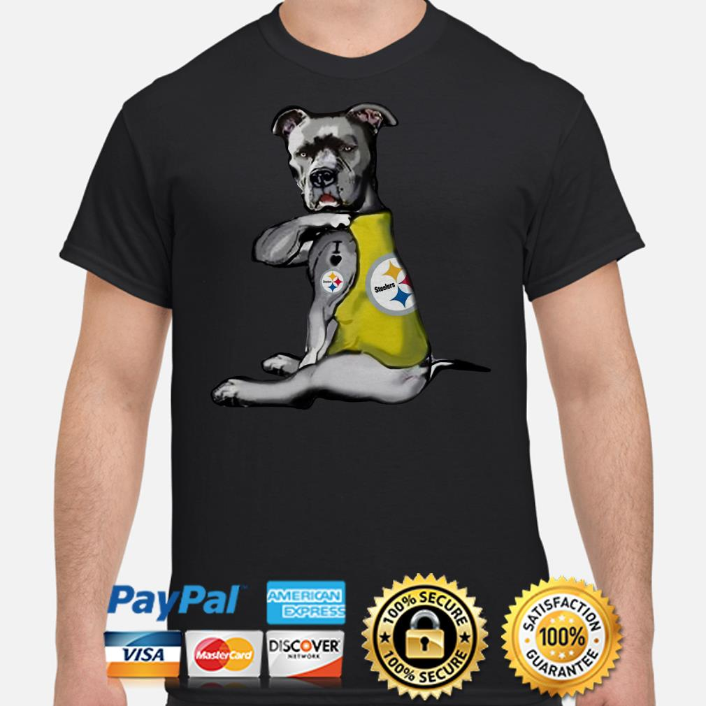 Rottweiler Tattoo I Love Pittsburgh Steelers Shirt
