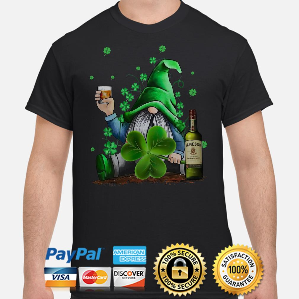 St Patrick_s Day Irish Gnome And Jameson Shirt