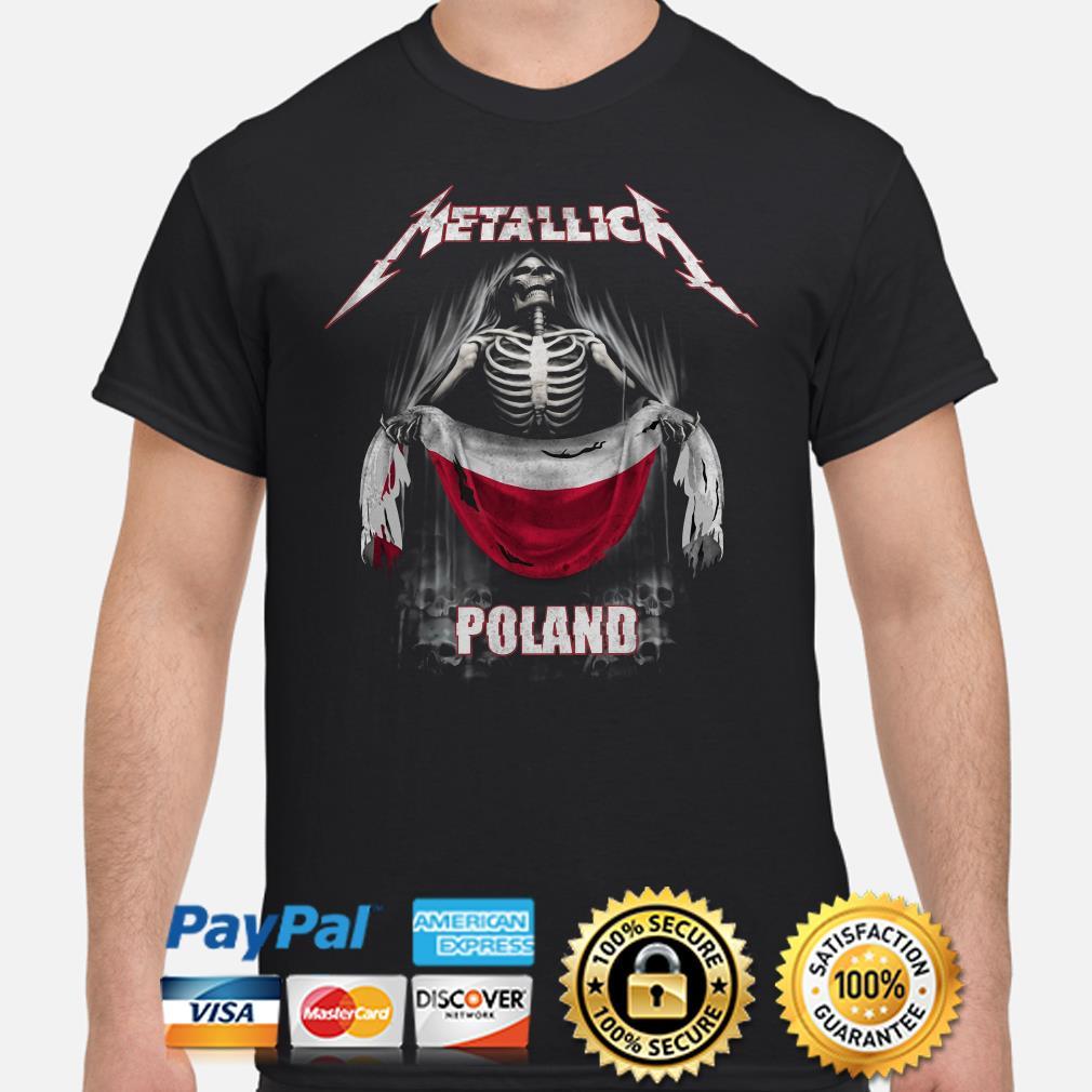 Skeleton Metallica Poland Flag Shirt