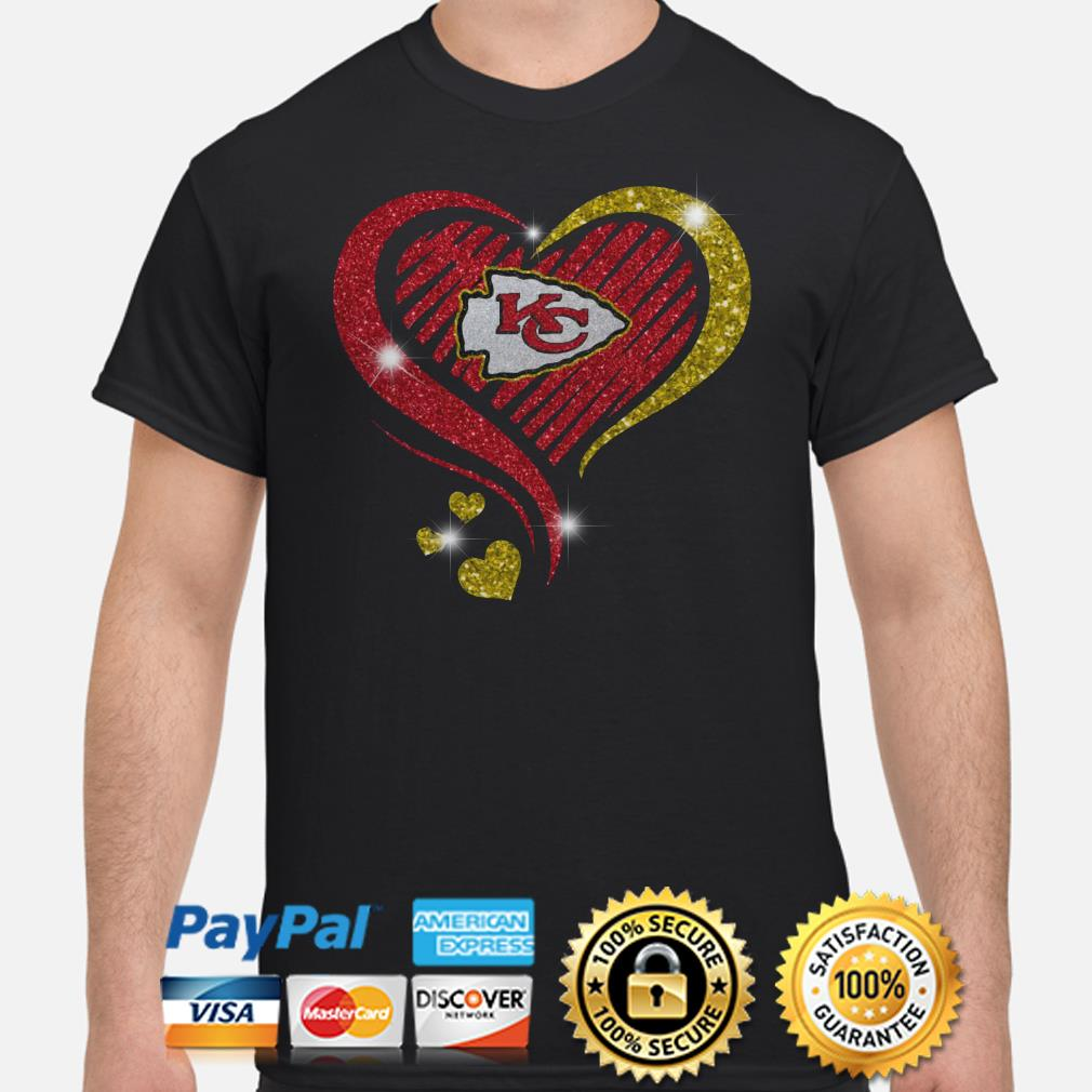Kansas City Chiefs heart diamond shirt