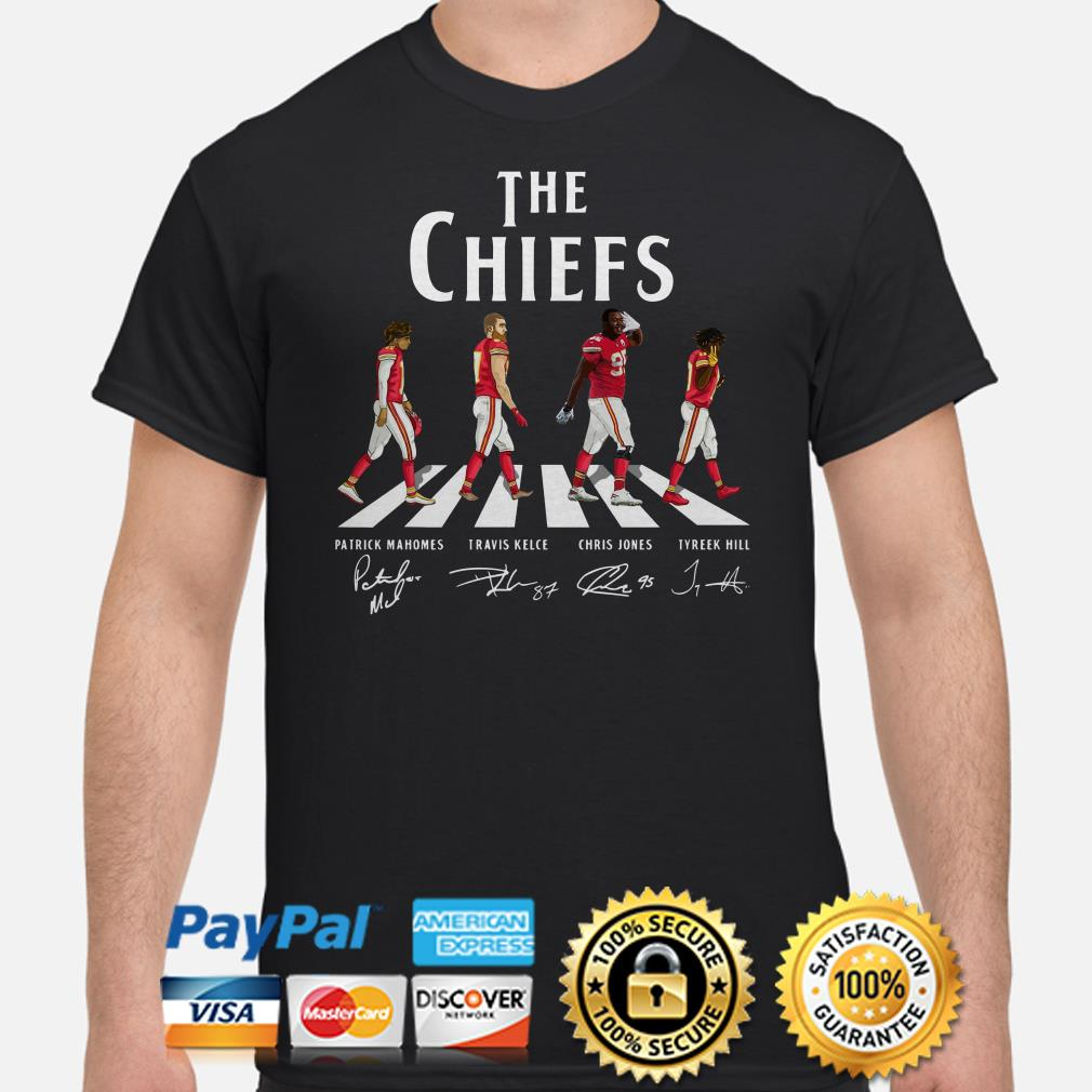 The Chiefs Abbey Road signatures shirt