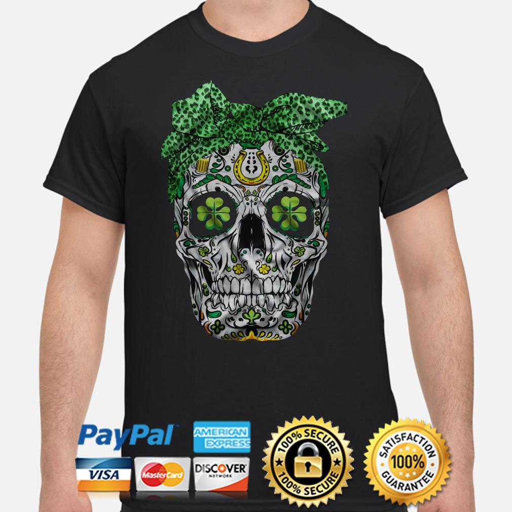 Skull Bandana St Patricks Day shirt