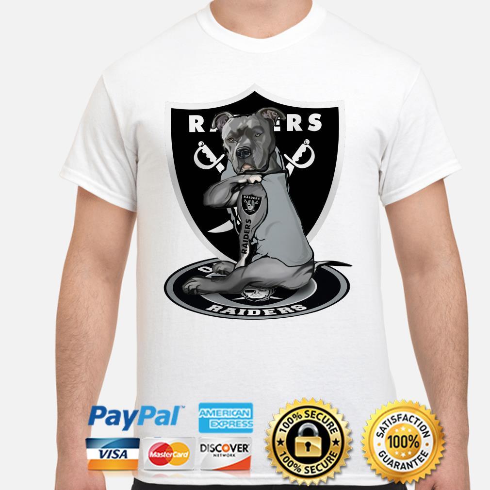 Las Vegas Raiders Pit Bull Tattoo Raiders Shirt