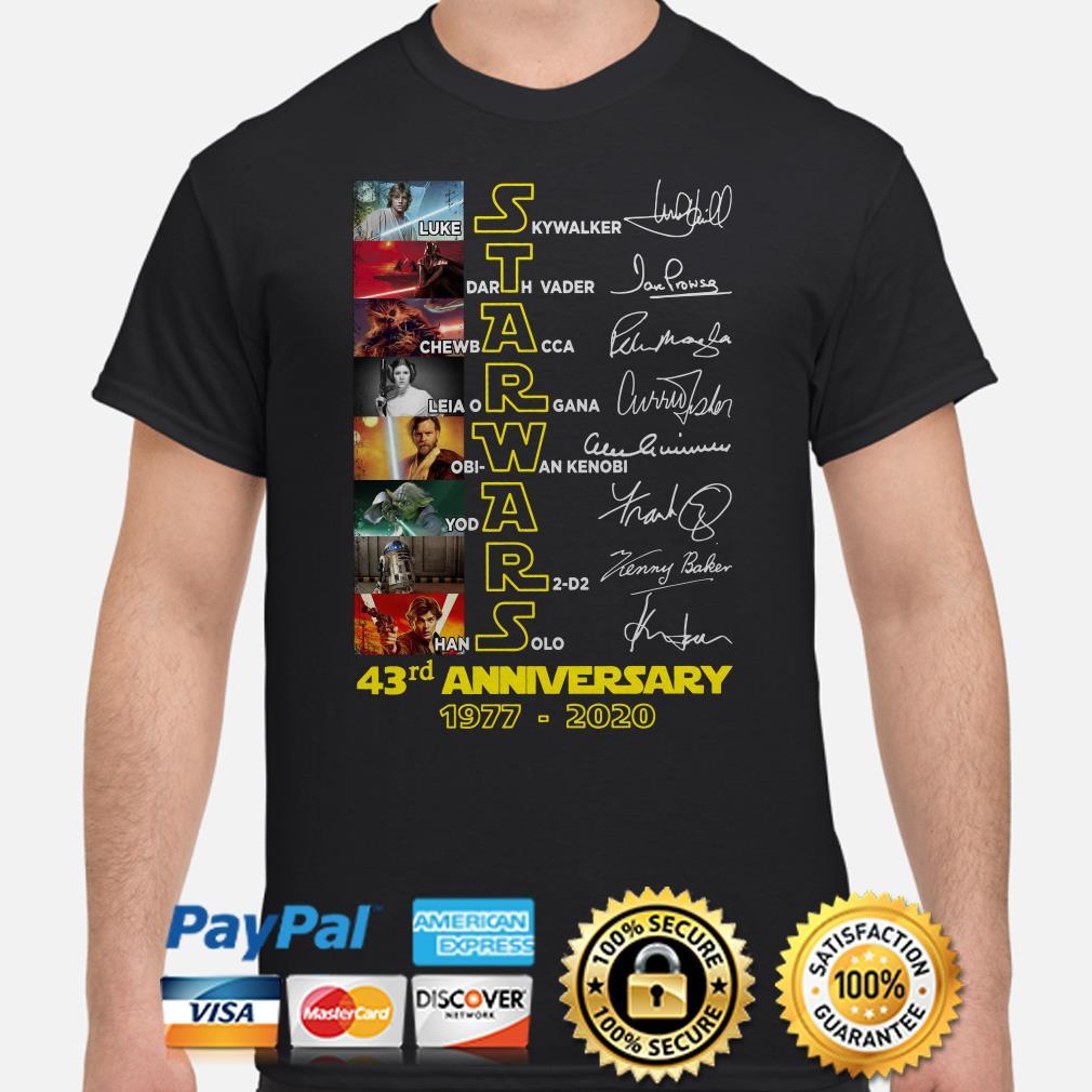 Star Wars 43rd Anniversary 1977-2020 Signature Shirt(1)