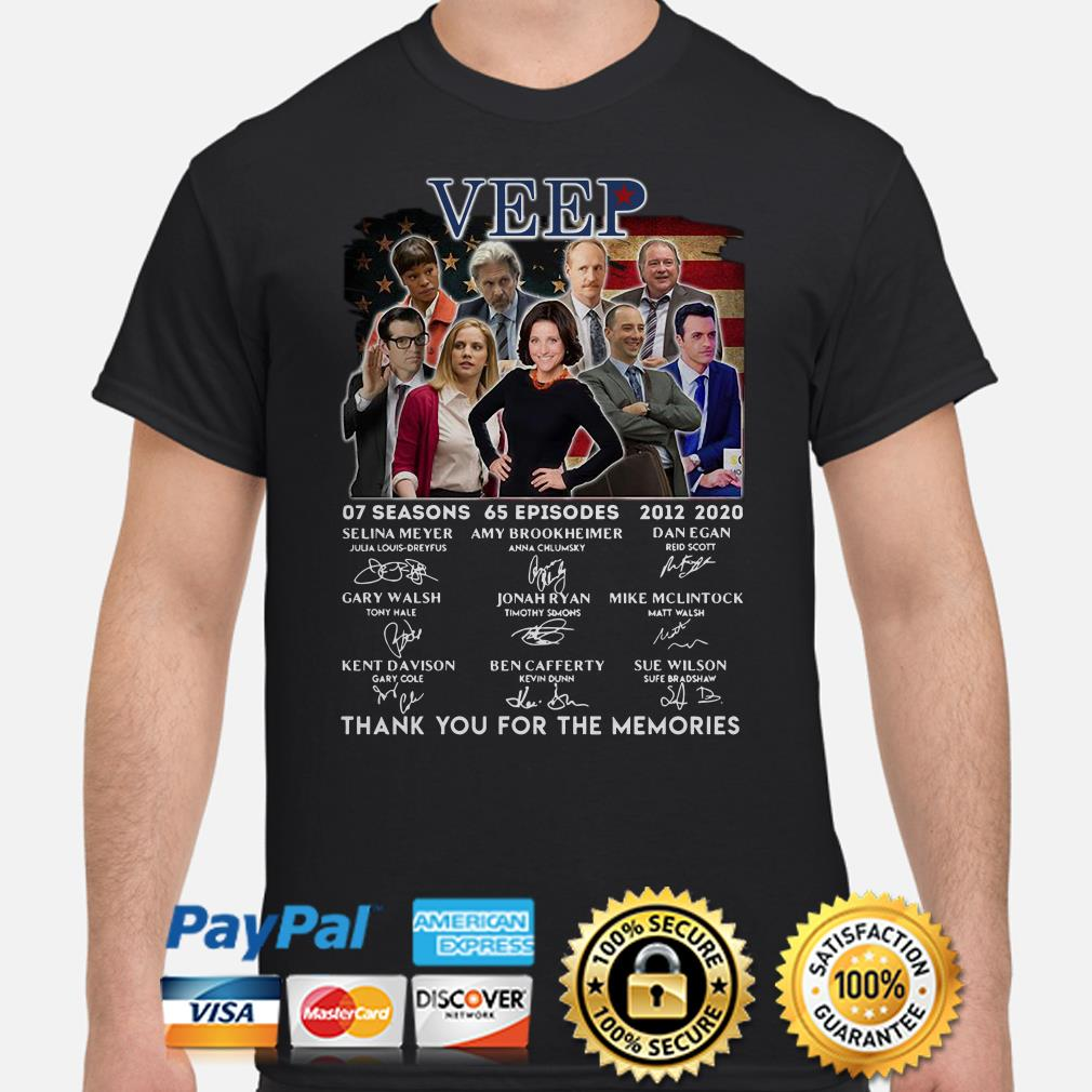 Veep 07 Seasons 65 Episodes 2012 2020 Thank You For The Memories Signature Shirt