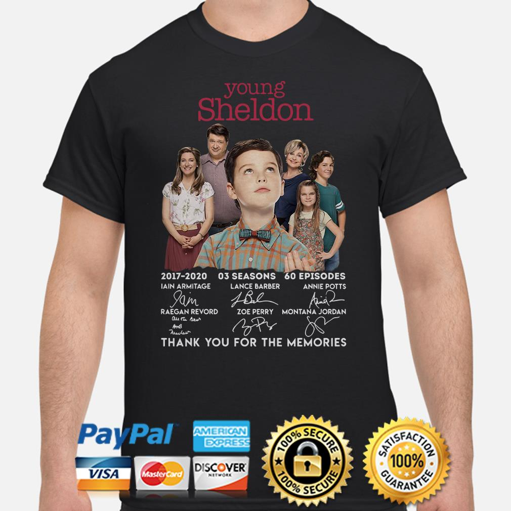 Young Sheldon Thank You For The Memories Signature Shirt