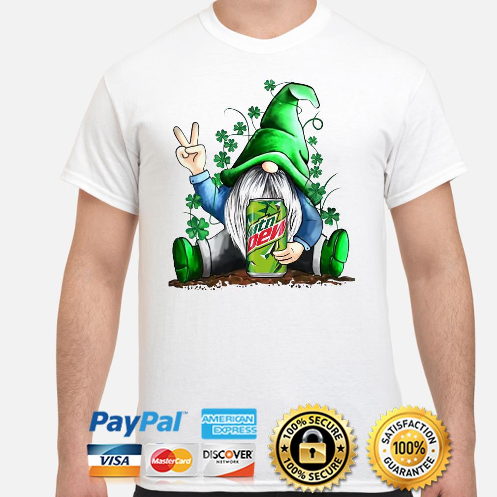 Gnomie hug Mountain Dew Shamrock St Patrick's day shirt