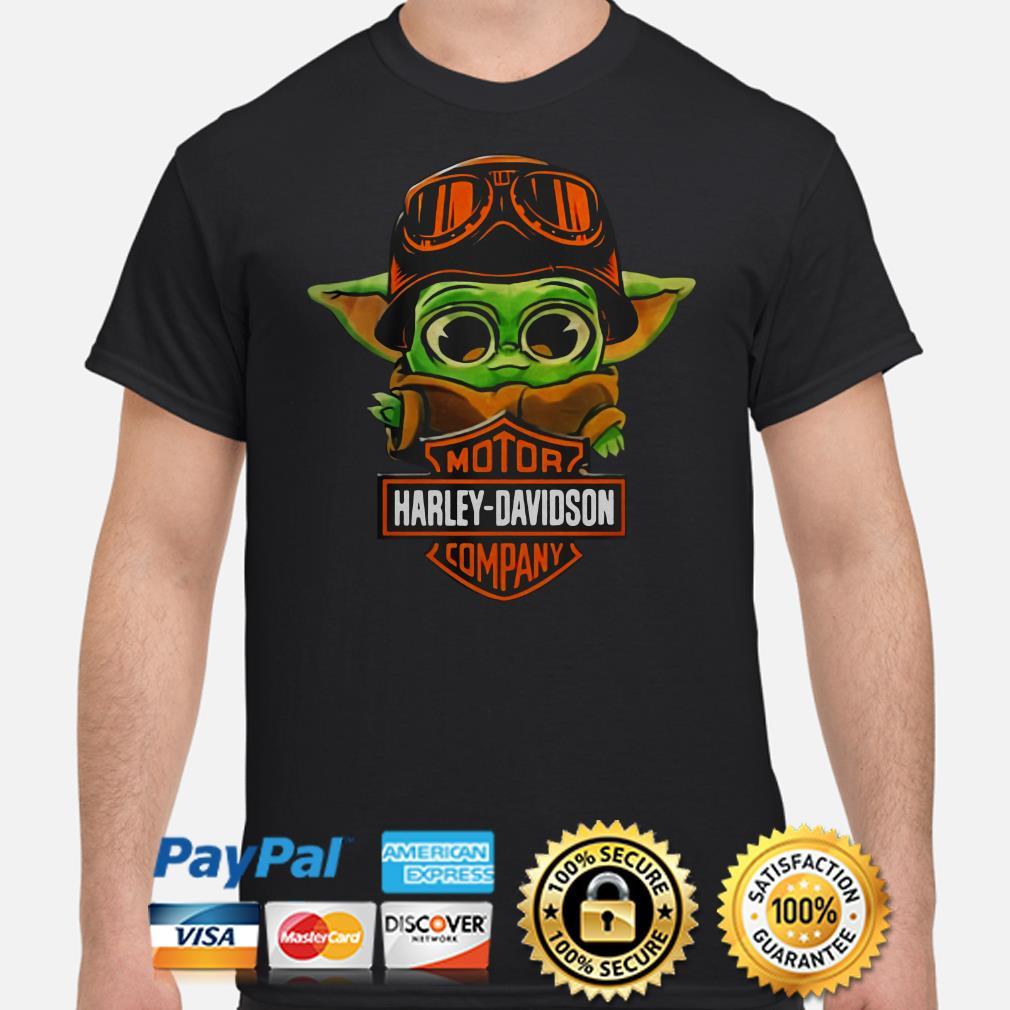 Baby yoda Motor Harley Davidson shirt