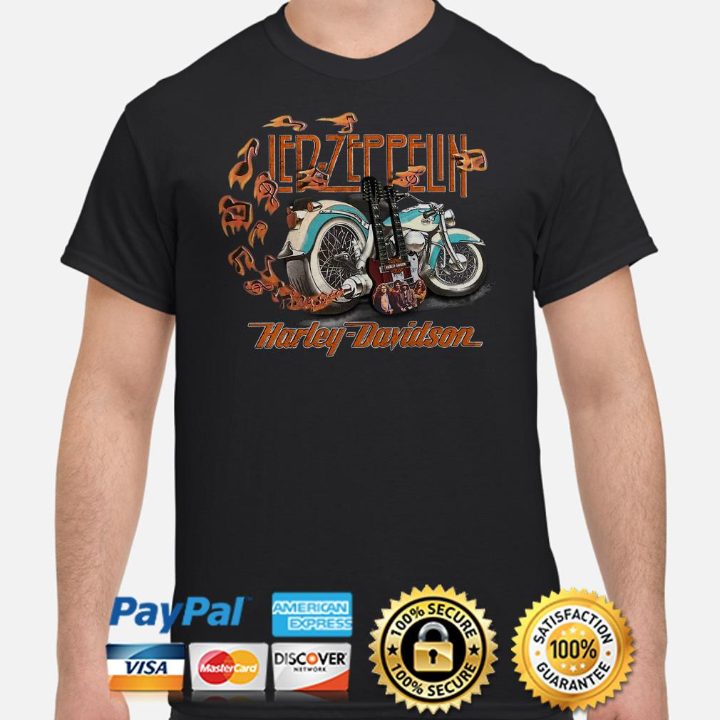 Led Zeppelin Harley Davidson shirt
