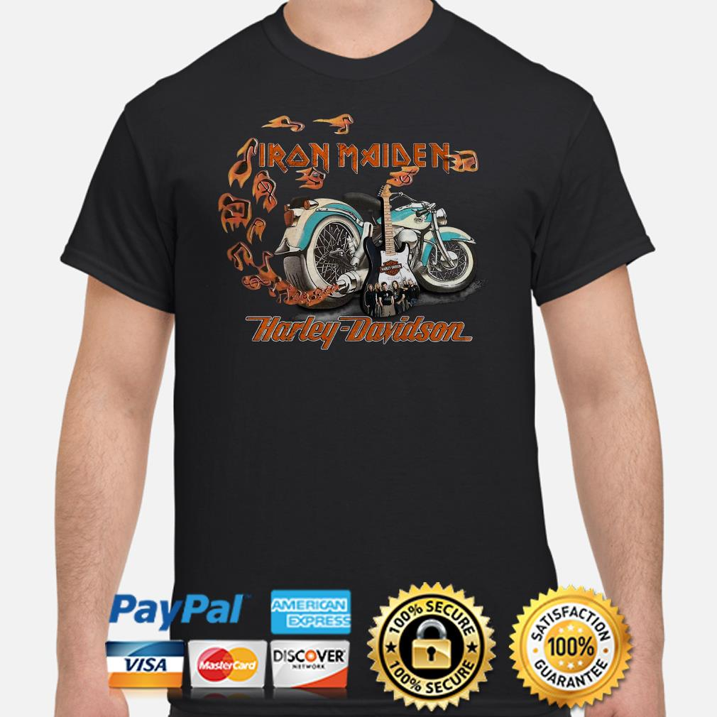 Motor guitar Iron Maiden Harley Davidson shirt