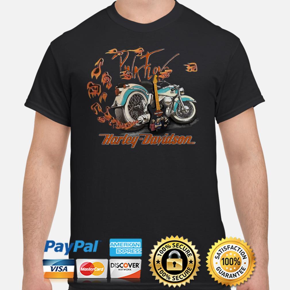 Motor guitar Pink Floyd Harley Davidson shirt