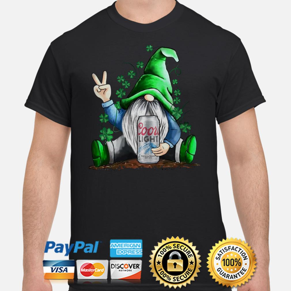 Irish Gnome hug Coors Lights beer St Patricks Day shirt