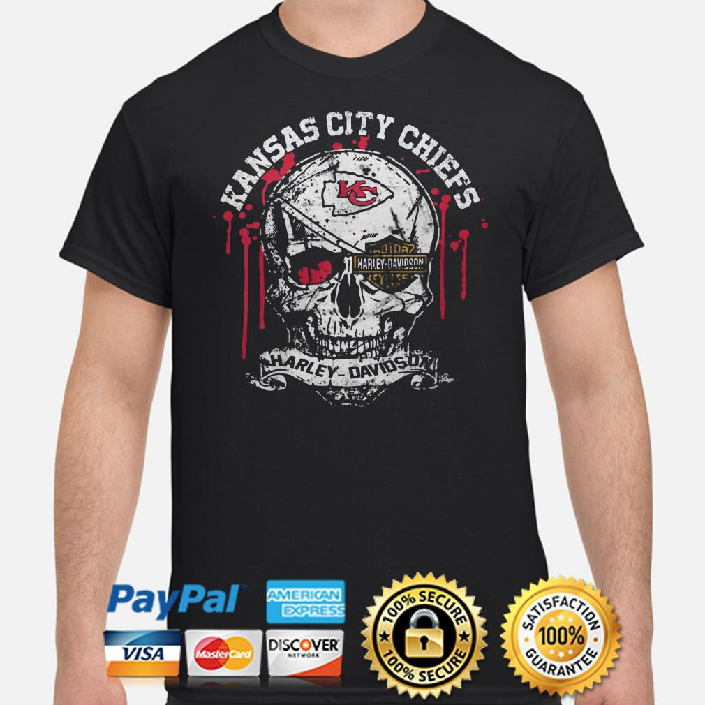 Kansas City Chiefs Harley Davidson skull shirt