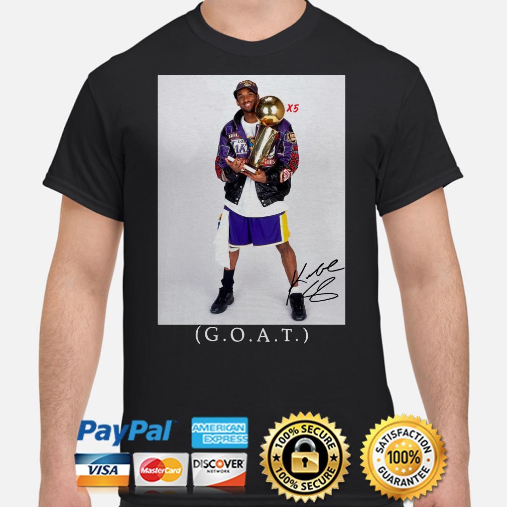 Kobe Bryant Goat X5 shirt