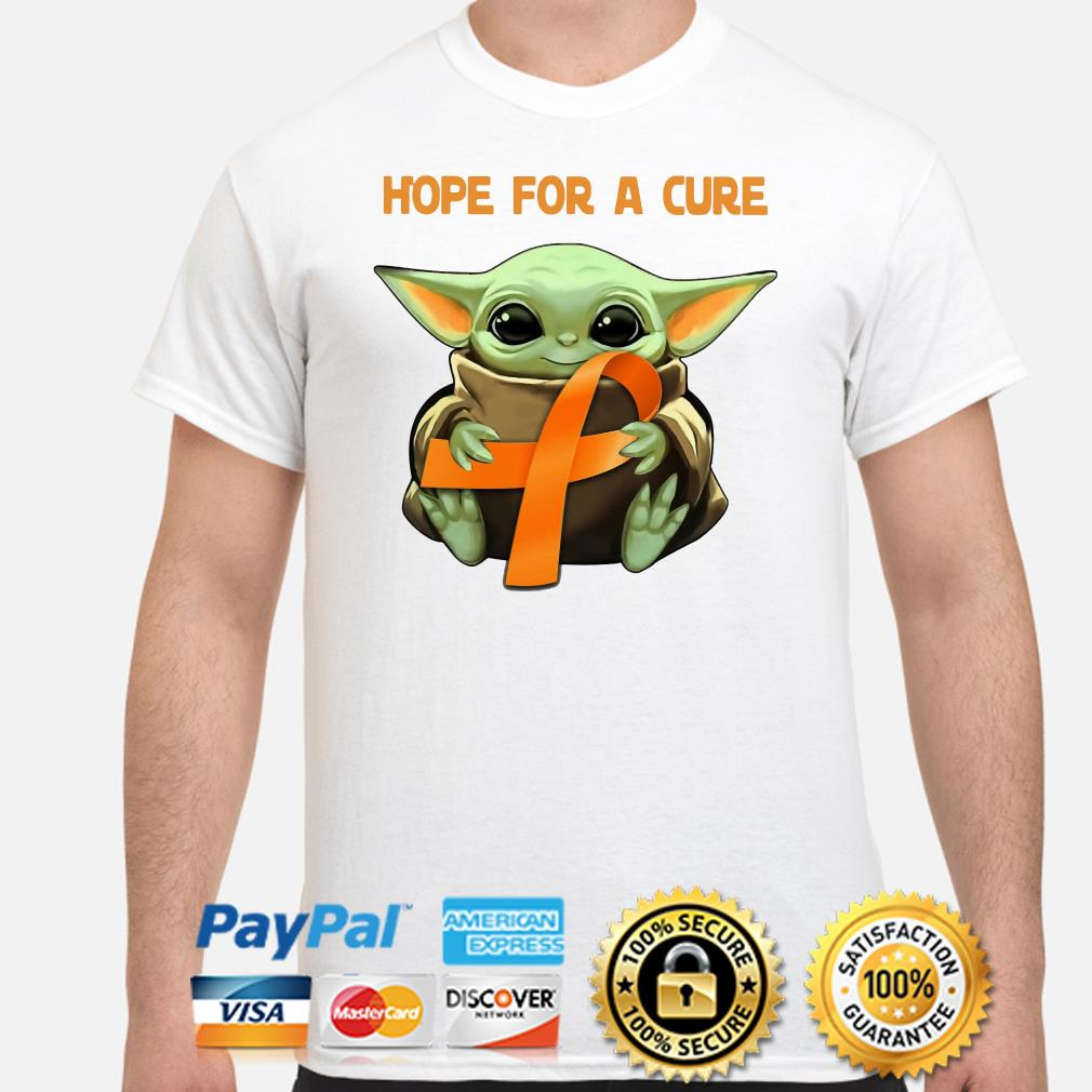 Baby Yoda Hope for a cure Multiple Sclerosis shirt