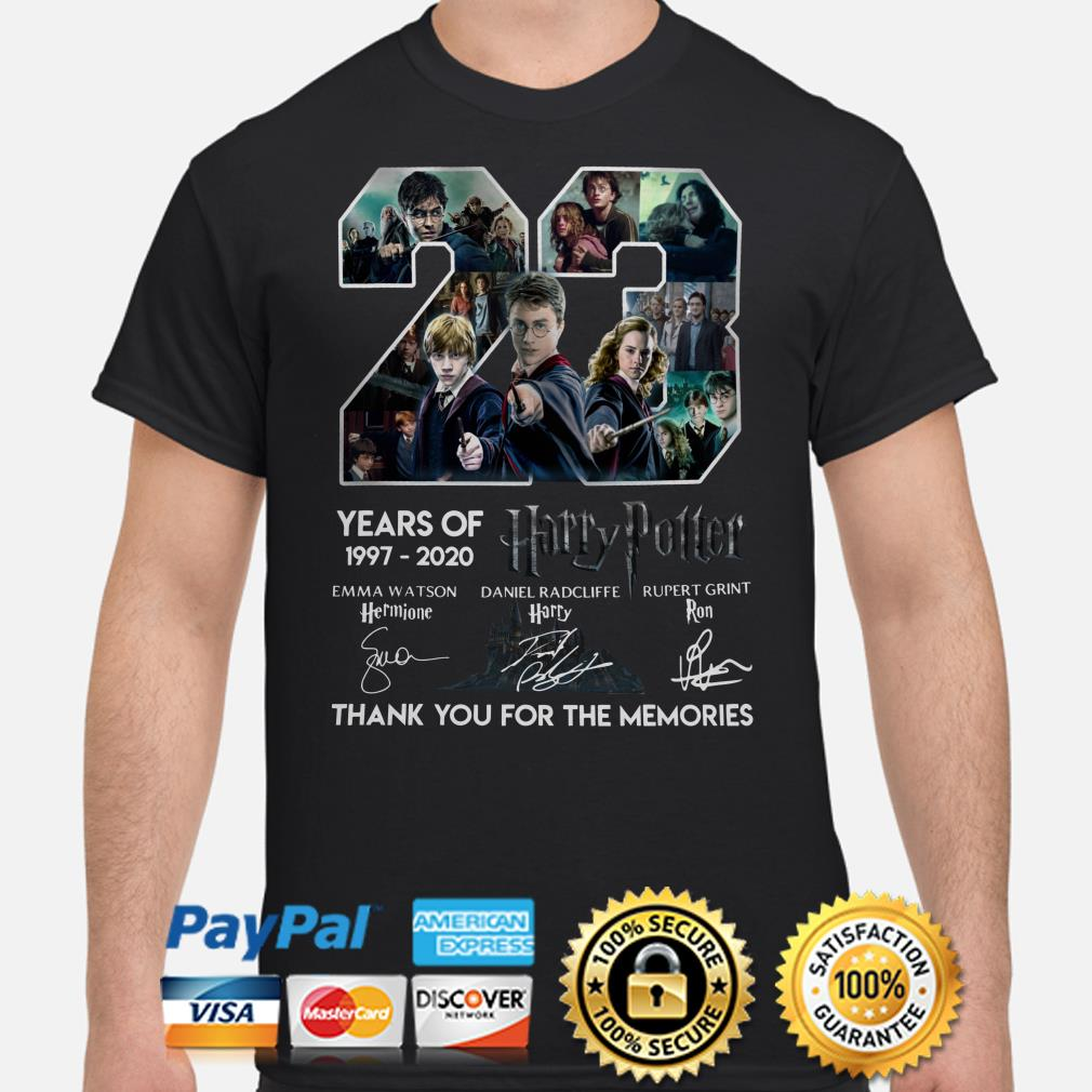 23 years of Harry Potter thank you for the memories signature shirt