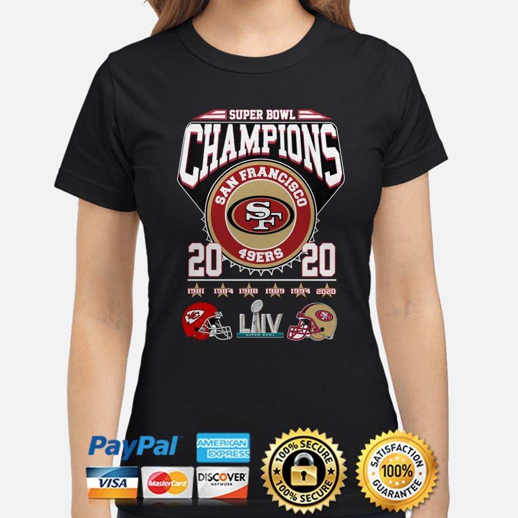 Super Bowl Champions San Francisco 49ers 2020 Ladies Shirt