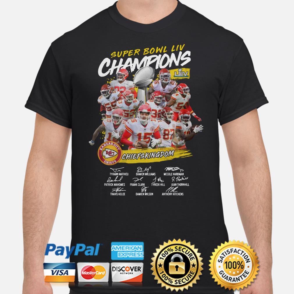 Super Bowl Liv Champions Kansas City Chiefs Chiefs Kingdom Shirt