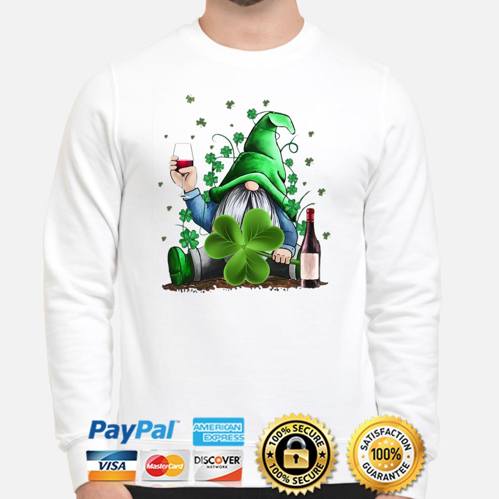 Irish Gnome drink wine St Patrick's day Sweater
