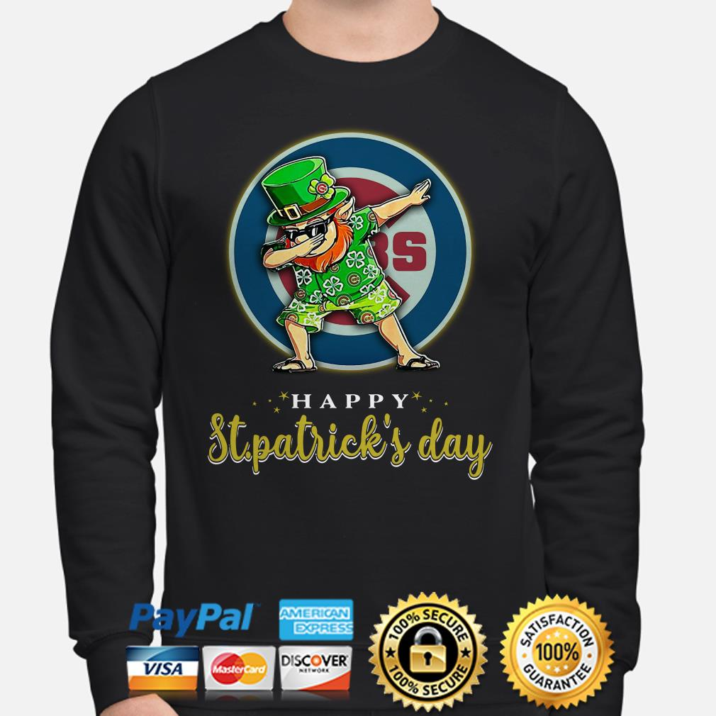 Chicago Cubs Uncle Sam Happy St Patrick's Day Sweater
